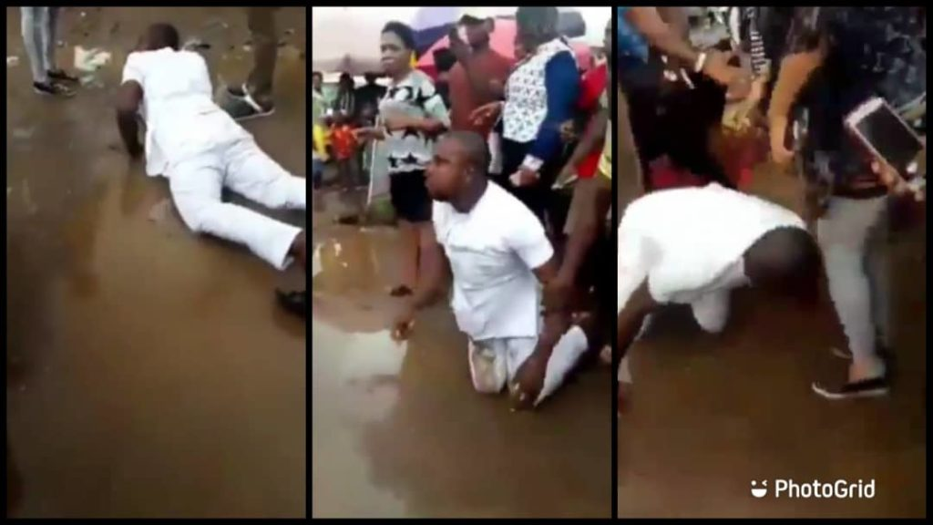 Man Rolled on Mud After Proposal To His Girl Was Turned Down