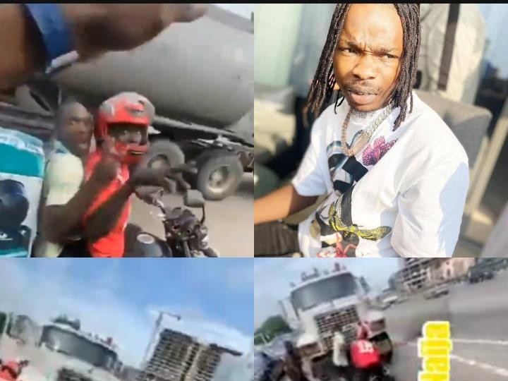 Terrifying Moments Dispatch Rider Almost Got Crushed By A Truck