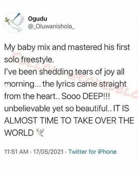 Wizkid's First Son, Boluwatife Set Release His First Single