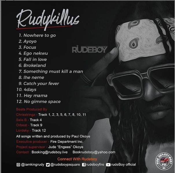 Rudeboy - Rudykillus Album & Songs Download (Audio)