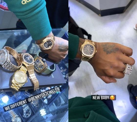 Davido Dumps Diamond Wristwatches, Buys A Plain Jane Worth #140 Million