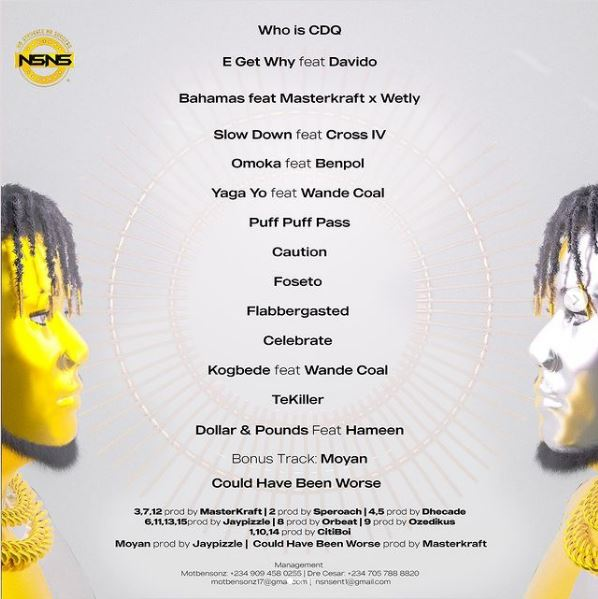 CDQ Ft Davido - E Get Why mp3 download