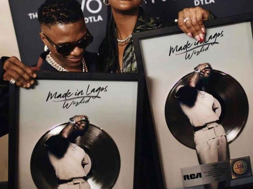 Wizkid Becomes First Nigerian Artiste Ever in History to Have a Platinum Song Certified By RIAA